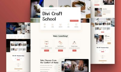 Get a FREE Craft School Layout Pack for Divi