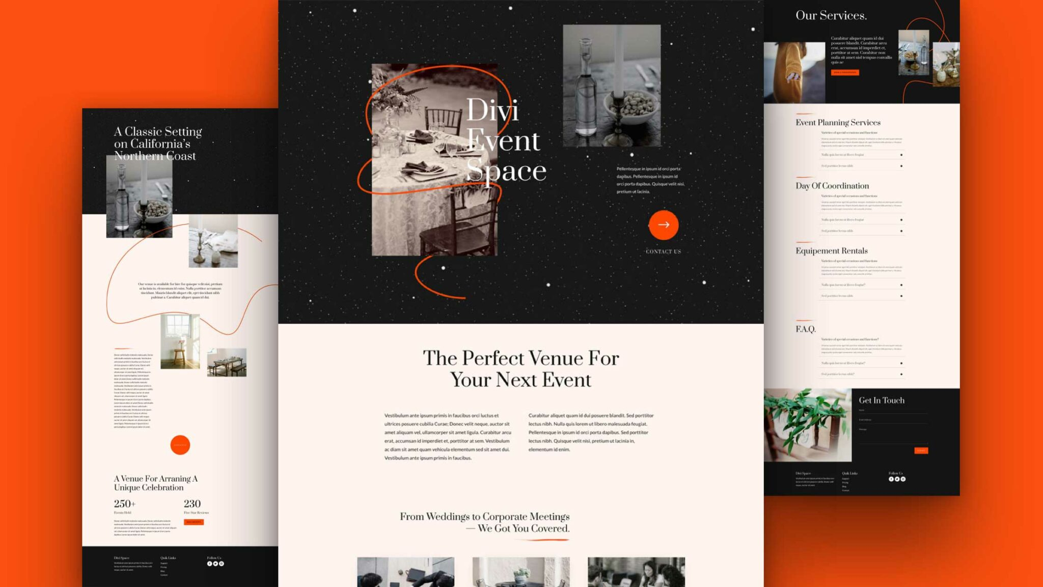 Get a FREE Event Venue Layout Pack for Divi