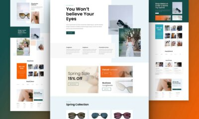 Get a FREE Sunglasses Shop Layout Pack for Divi