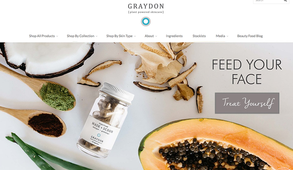 graydon skincare Example of Inspiring Shopify Ecommerce Stores