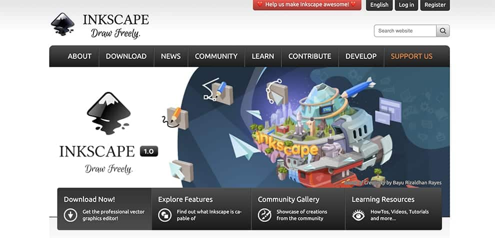 inkscape free drawing software