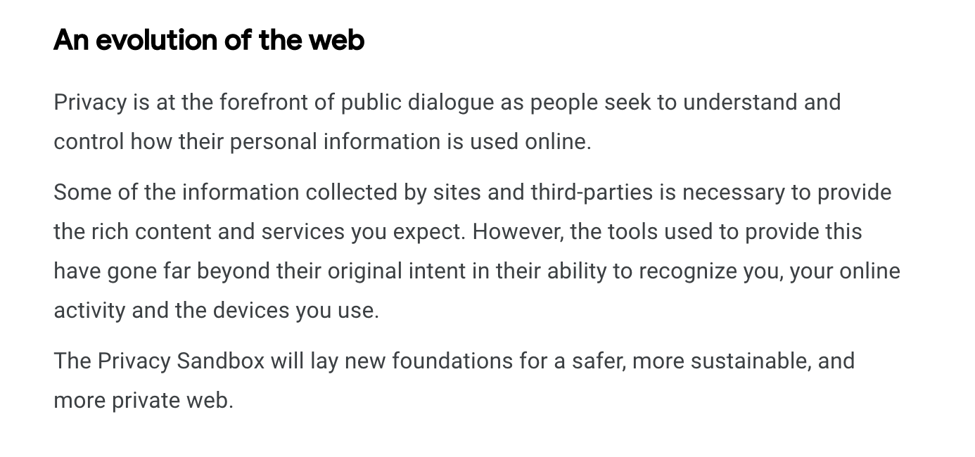 Google comments on third-party tools