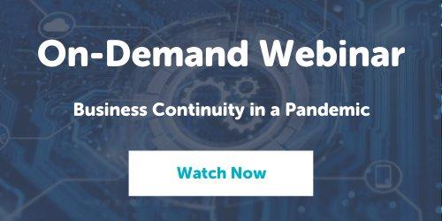 Business Continuity Webinar Banner