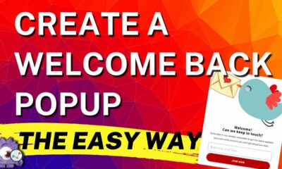 Create A Welcome Back Popup (The Easy Way)