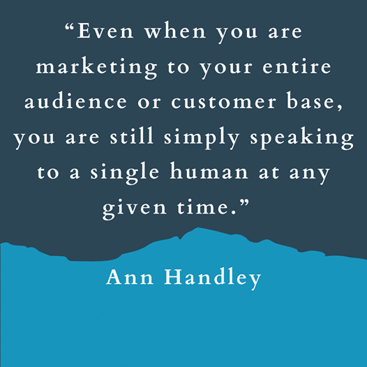 It's always important to remember that through the eyes of your potential customers, every connection they make with your business is personal to them...
