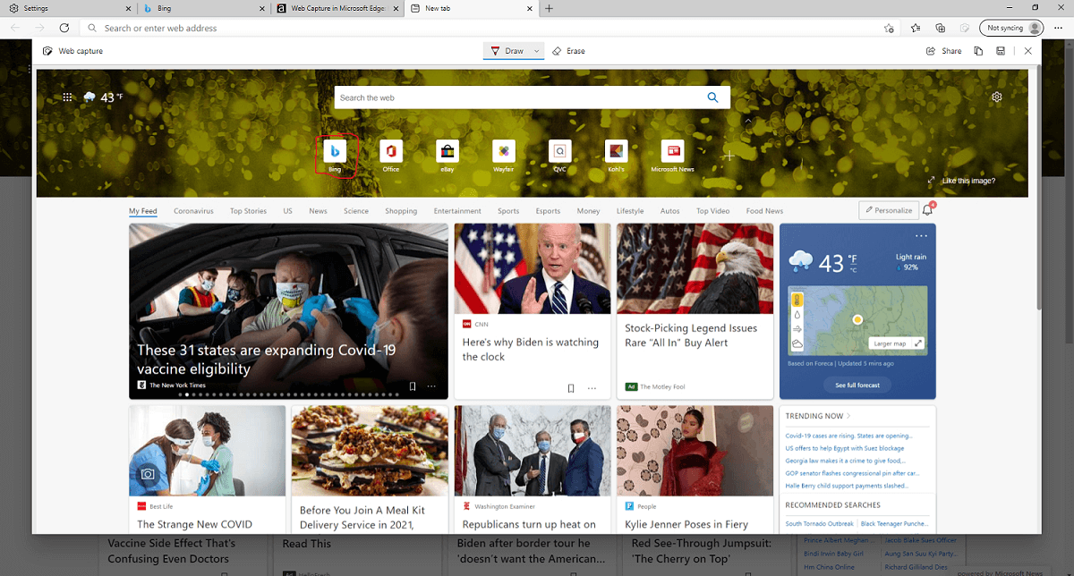 A full-page screenshot in Edge.