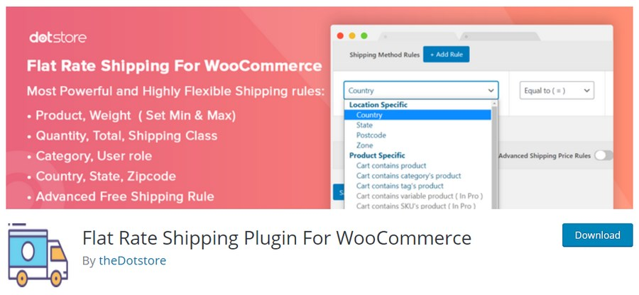 Flat rate shipping plugin for WooCommerce by theDotstore