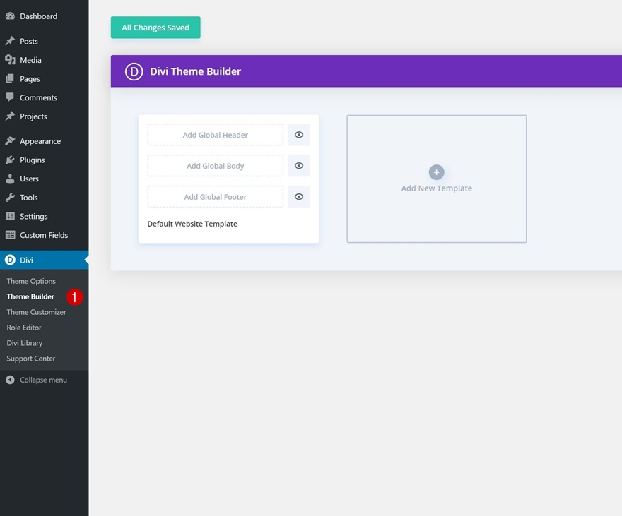 header & footer template for Divi's Classroom Layout Pack