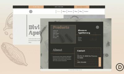 Download a FREE Header & Footer for Divi's Apothecary Layout Pack