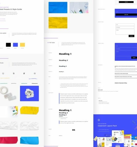 Download a FREE Global Presets Style guide for Divi's Classroom Layout Pack