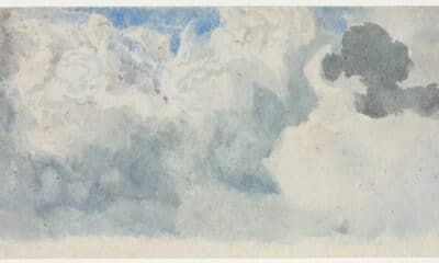 A lovely impressionistic watercolor of an anonymous patch of clouds.