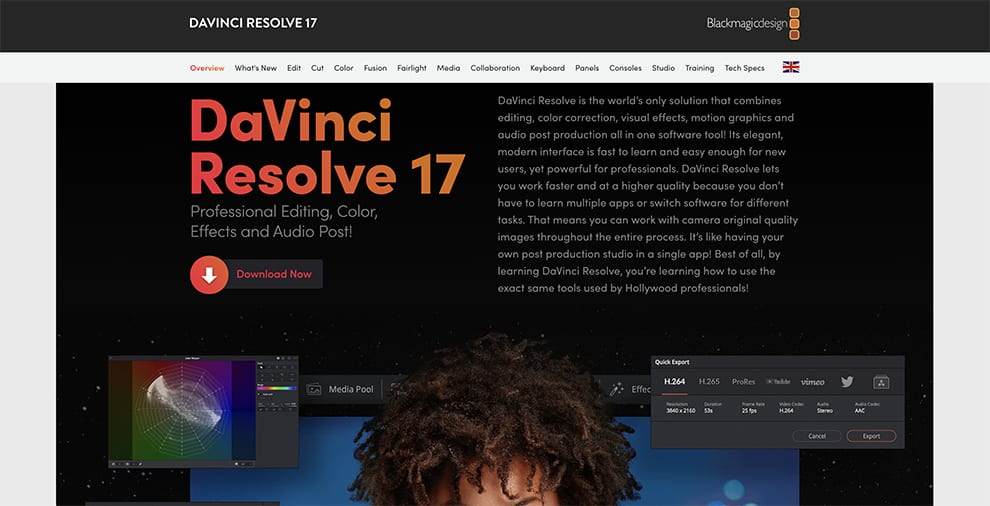 davinci resolve free video editing