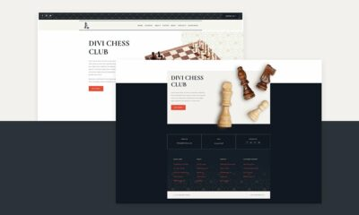 Download a FREE Header & Footer for Divi's Chess Club Layout Pack