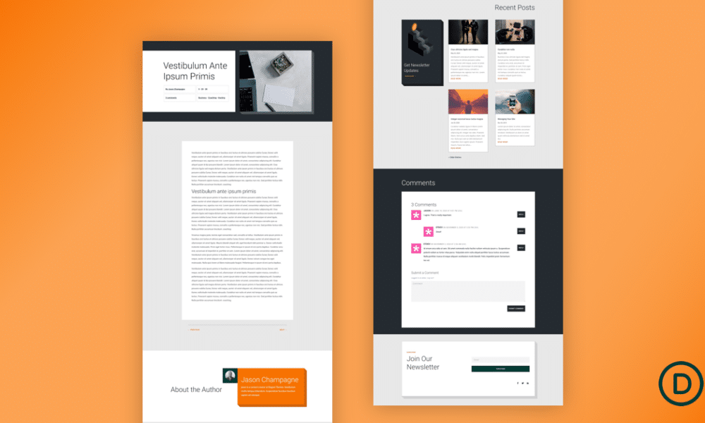 Download a FREE Blog Post Template for Divi's Personal Loan Layout Pack