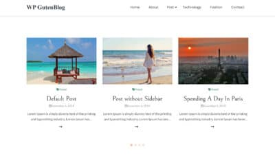 With Some Hits and Misses, the Guten Blog WordPress Theme Has Potential