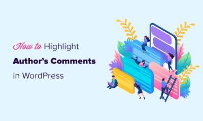 Highting comments by an author in WordPress blog posts