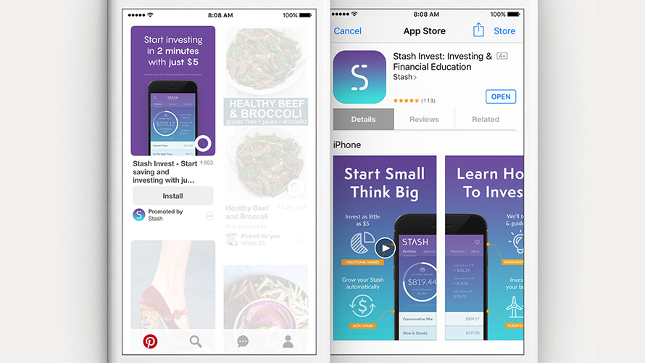 App install ads example.