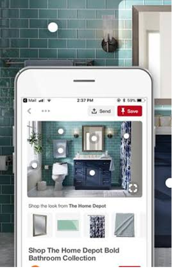 Pinterest collection ad.