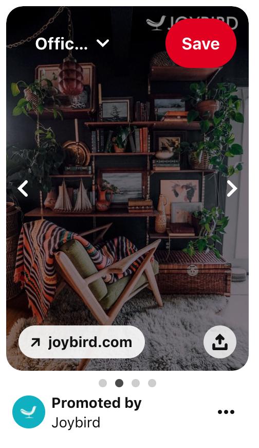 Pinterest carousel ad.