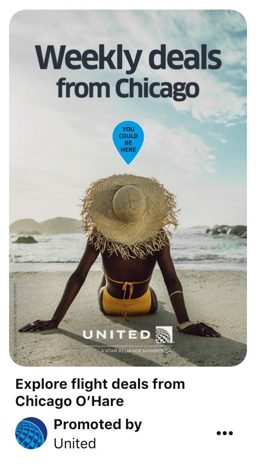 Pinterest static ads.