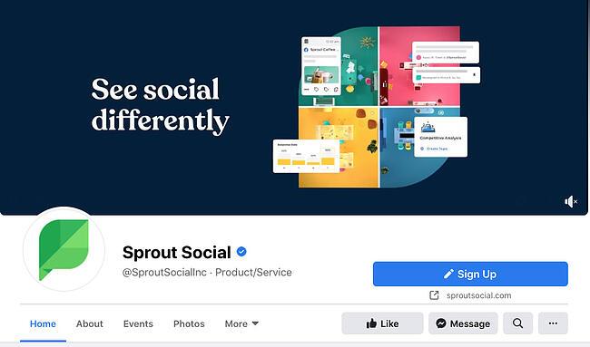 Sprout Social Facebook cover photo