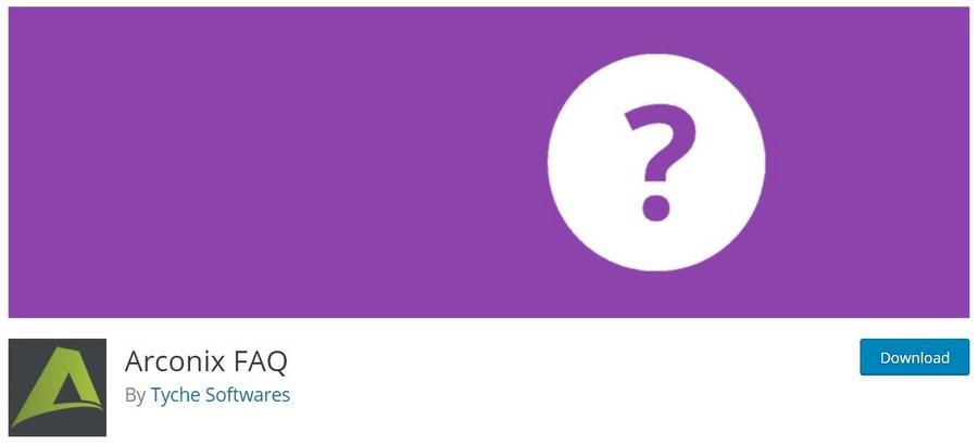Arconix FAQ WordPress plugin