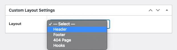 Custom layout settings