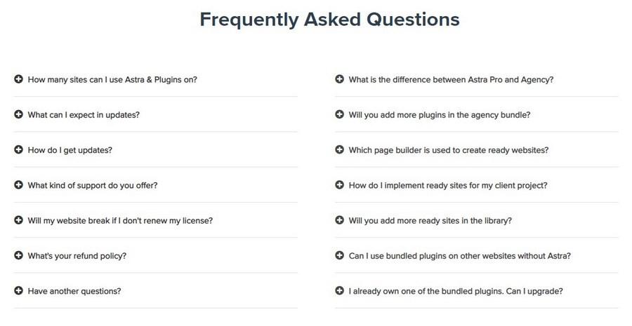 FAQ example