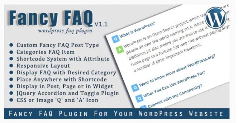 Fancy FAQs WordPress plugin