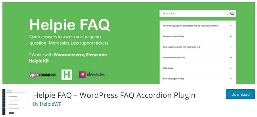 Helpie FAQ WordPress FAQ Accordion Plugin