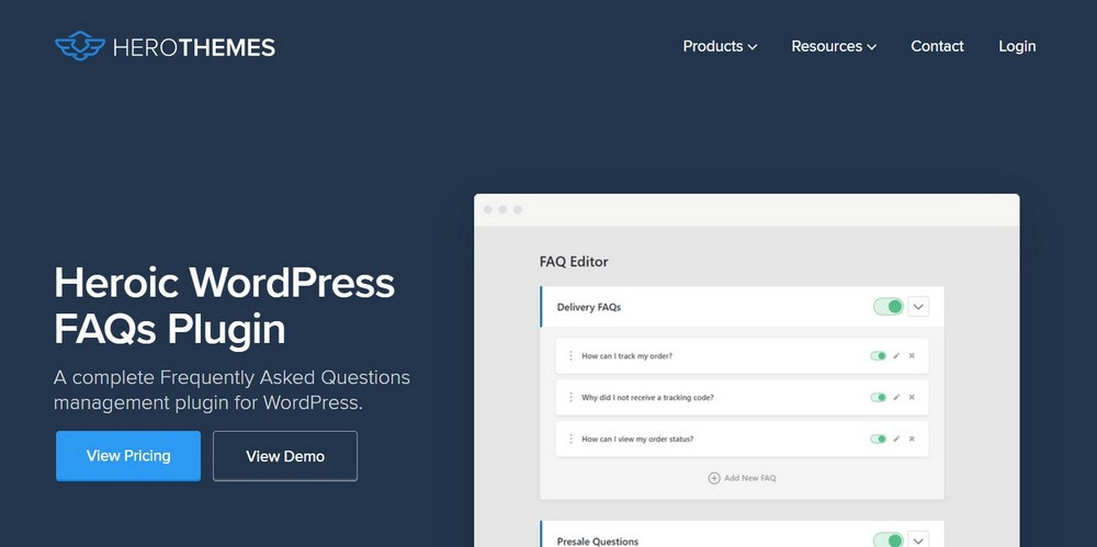 Heroic FAQs WordPress Plugin
