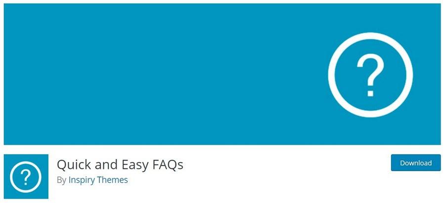 Quick and Easy FAQs WordPress plugin