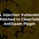 SQL Injection Vulnerability Patched in CleanTalk AntiSpam Plugin