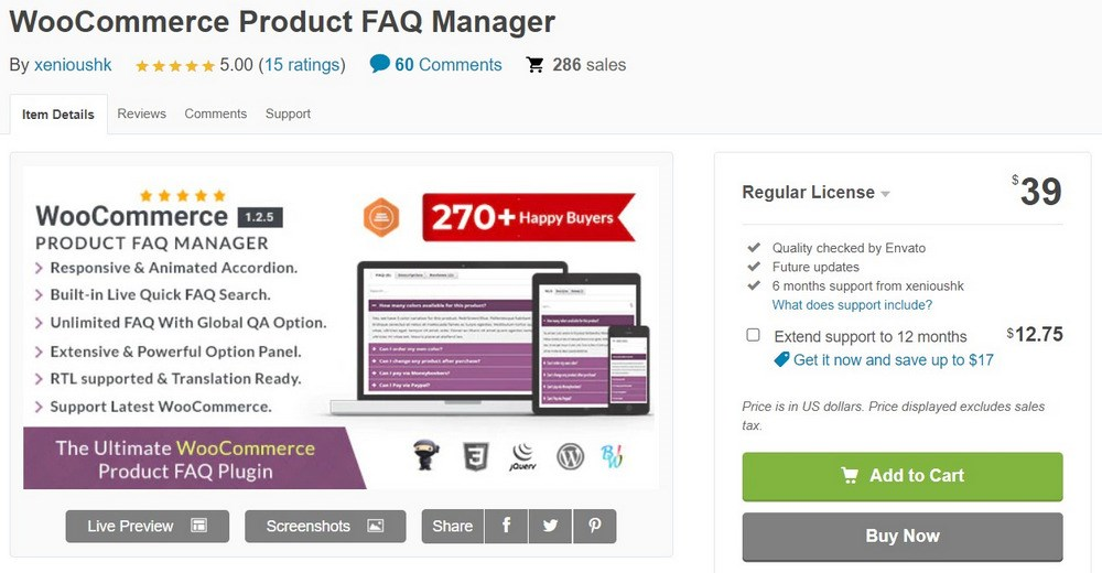 WooCommerce Product FAQ Manager by xenioushk