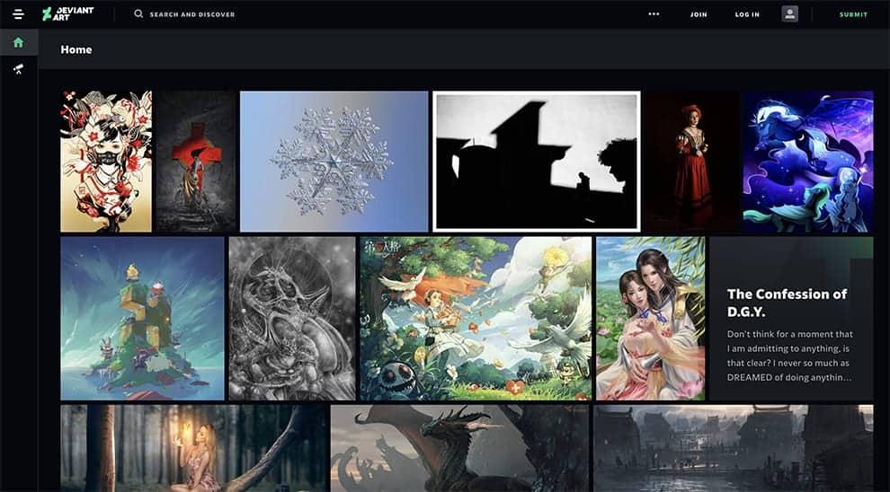 deviantart free online portfolio site