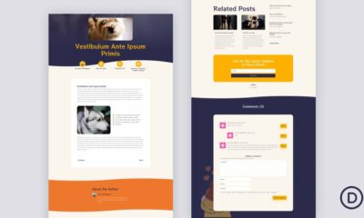 Download a FREE Blog Post Template for Divi's Dog Breeder Layout Pack
