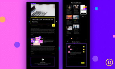 Download a FREE Blog Post Template for Divi's Virtual Conference Layout Pack
