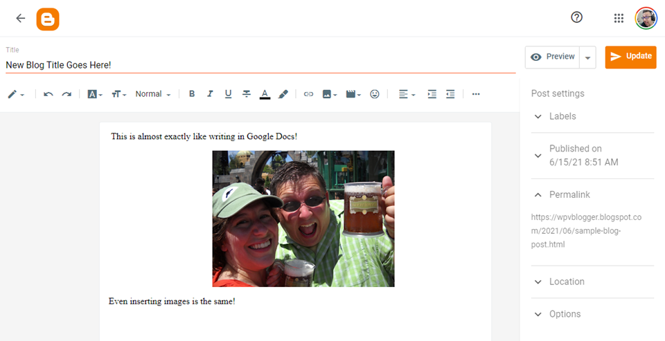 wordpress vs blogger editor
