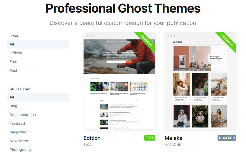 ghost theme repository