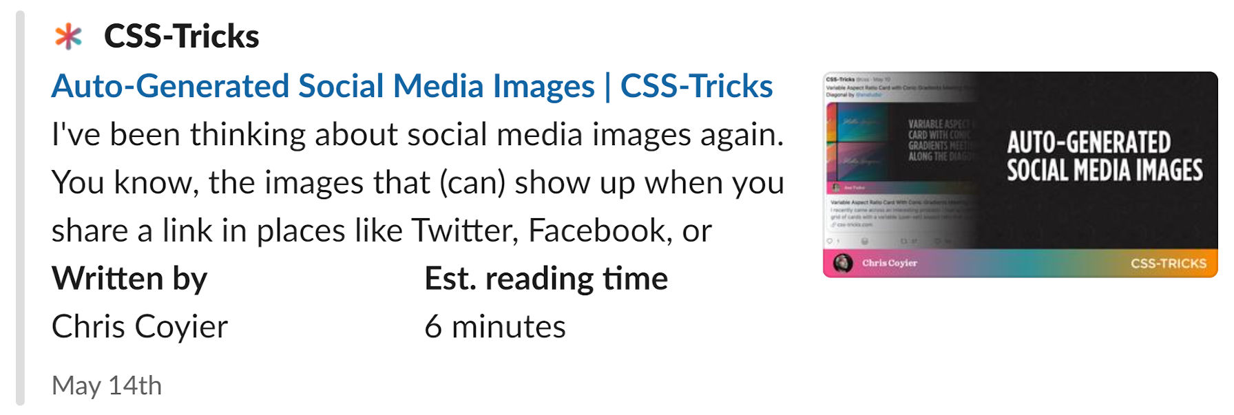 Social image displayed via a Slack article preview.
