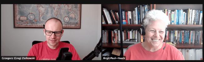 Grzegorz Ziolkowski - Birgit Pauli-Haack recording the #45 Gutenberg Changelog.