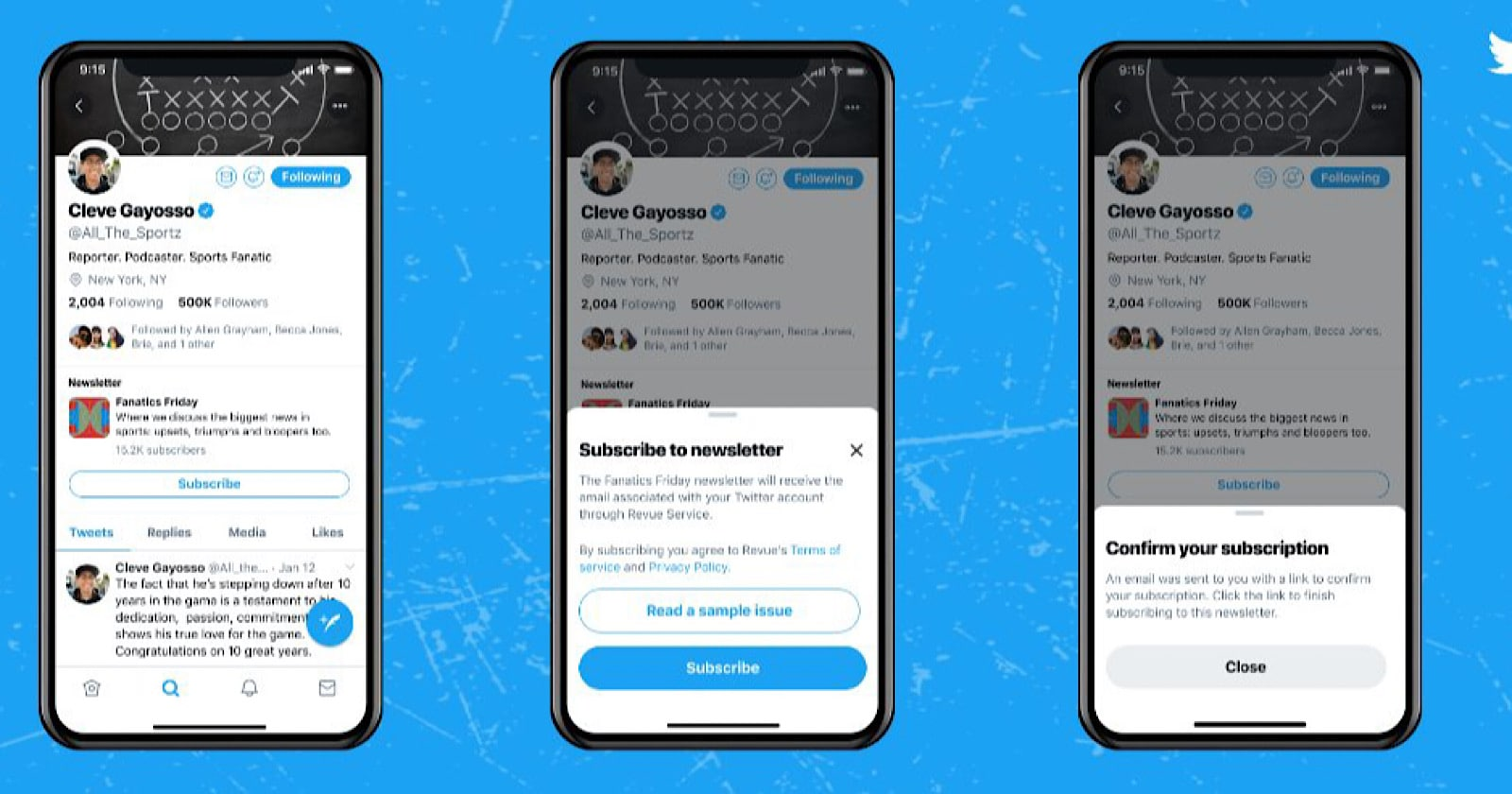 Twitter Adding 'Subscribe' Button to Profiles For Newsletter Signups via @sejournal, @MattGSouthern