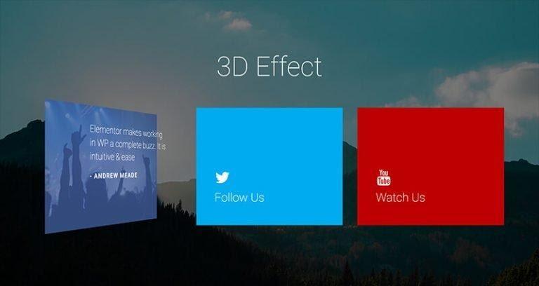 3d flipbox effect with elementor