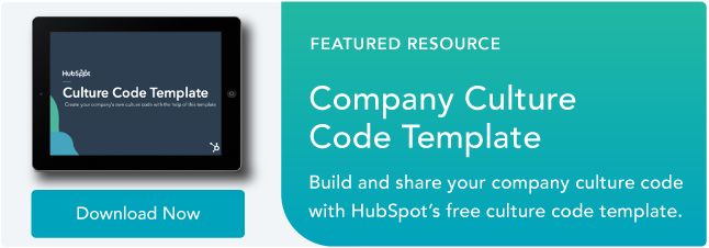 company culture template