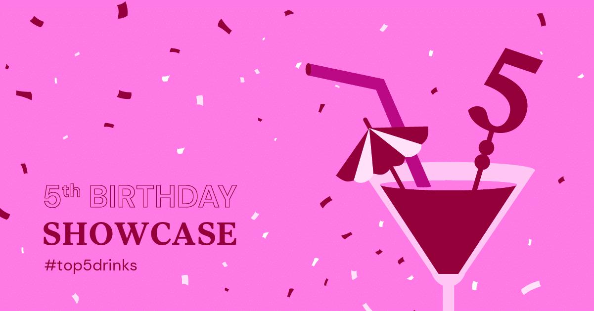 Elementor Birthday Showcase: Top 5 Drinks Websites