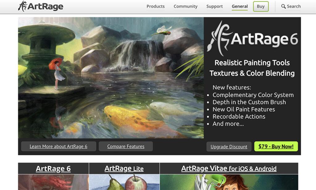 Artrage sketch app
