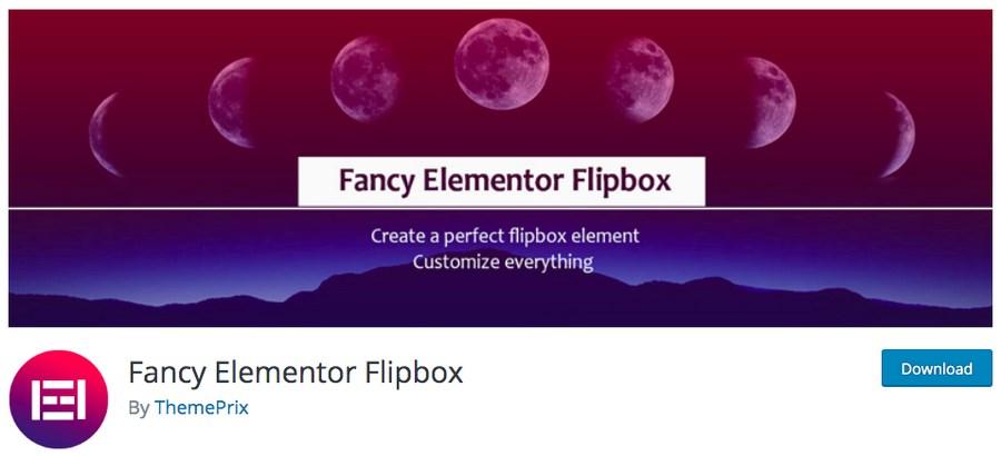 Fancy Elementor Flipbox plugin