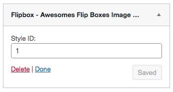 Flipbox in widget