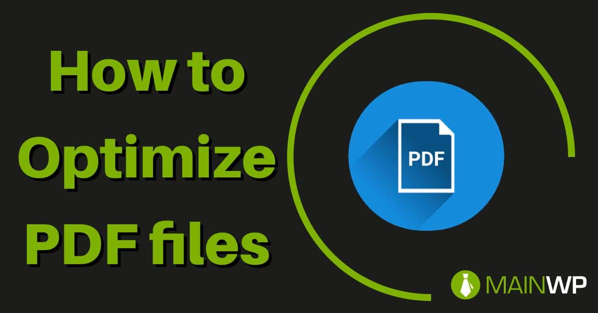 How to Optimize PDF files on your Site