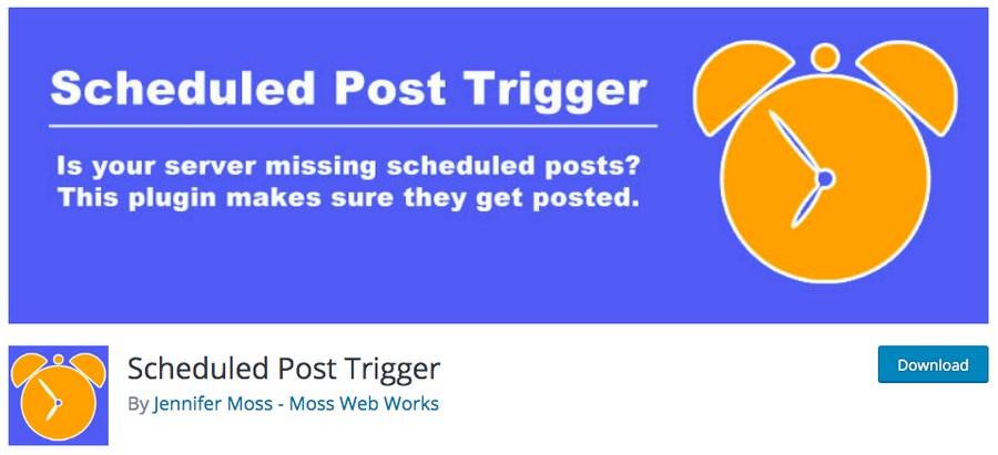 Scheduled post trigger WordPress plugin